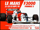 1990 Le Mans F3000 - Promotional Advertising Magnet