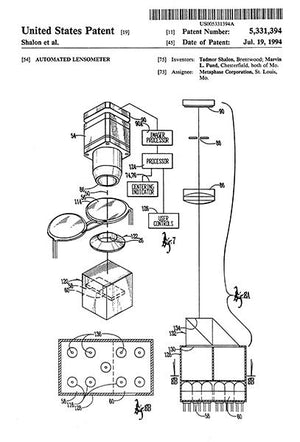 1994 - Automated Lensometer - Eye Clinic - Optometrist - T. Shalon - Patent Art Magnet