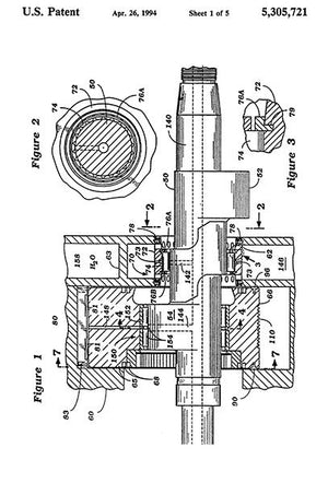1994 - Rotary Wankel Type Engine - W. A. Burtis - Patent Art Magnet