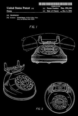 1994 - Telephone - G. Huang - Patent Art Magnet