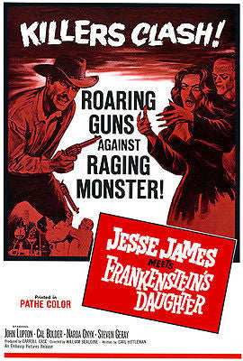 Jesse James Meets Frankenstein's Daughter - 1966 - Movie Poster