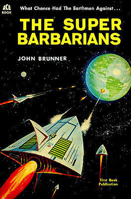 The Super Barbarians - 1962 - Science Fiction Novel Cover Poster