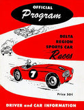 1955 Delta Region Sports Car Races - Program Cover Poster