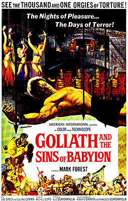 Goliath And The Sins Of Babylon - 1963 - Movie Poster