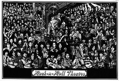 A Rock 'N' Roll Theatre Poster - Can you name them all?
