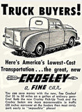 1947 Crosley Pick Up Truck - Promotional Advertising Poster