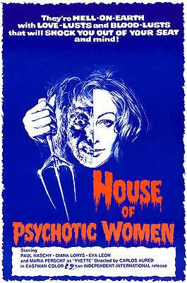 House Of Psychotic Women - 1974 -  Movie Poster Mug