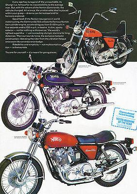 1973 Norton Commando Line - Promotional Advertising Magnet
