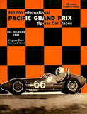 1961 Pacific Grand Prix Sports Car Races - Promotional Advertising Poster