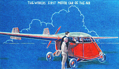 1941 Stout Aerocar - World's First Motor Car of the Air - Advertising Poster