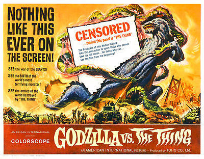 Godzilla vs the Thing - 1964 - Movie Poster