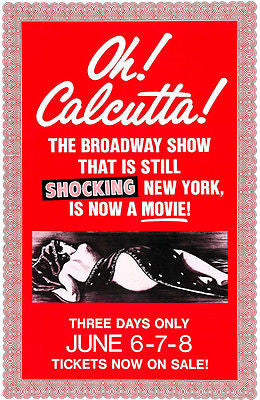 Oh! Calcutta! - 1972 - Movie Poster