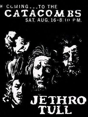Jethro Tull - 1969 - The Catacombs - Concert Poster