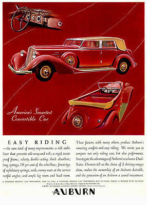 1934 Auburn Convertible - Promotional Advertising Poster