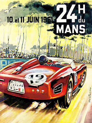 1961 24 Hours of Le Mans Race - Promotional Advertising Poster
