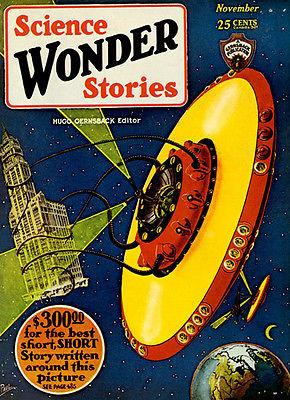 Wonder Science Stories - November 1929 - Magazine Cover Magnet