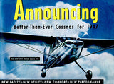 1947 Cessna Model 140 - Promotional Advertising Poster