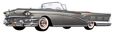 1958 Buick Convertible - Promotional Advertising Poster