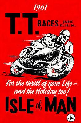 1961 Isle of Man TT Race - Promotional Advertising Magnet