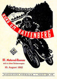 1952 Rund Um Battenberg Motorcycle Race - Promotional Advertising Poster