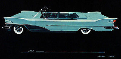 1957 Packard Clipper Convertible Concept Car - Promotional Advertising Poster