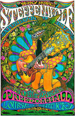 Steppenwolf - 1969 - Freedom Hall - Louisville, Kentucky - Concert Poster