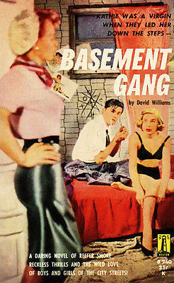 Basement Gang - 1953 - Pulp Novel Cover Poster