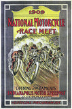1909 National Motorcycle Race Meet - Indianapolis Motor Speedway - Promo Poster