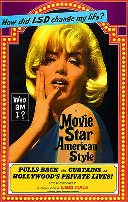 Movie Star, American Style or; LSD, I Hate You - 1966 - Movie Poster