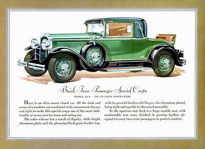 1930 Buick Special Coupe - Promotional Advertising Poster