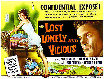Lost, Lonely And Vicious - 1958 - Movie Poster