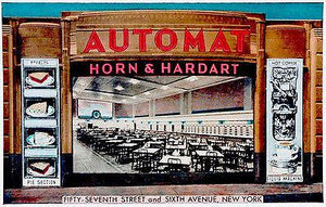 Horn and Hardart Automat - New York - 1941 - Vintage Postcard Magnet