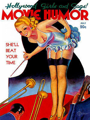 Movie Humor - 1930's - Pulp Magazine Cover Poster
