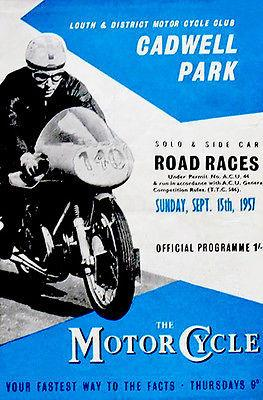 1957 Cadwell Park Motorcycle Races - Promotional Advertising Magnet