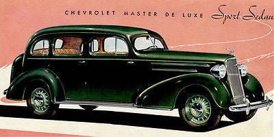 1935 Chevrolet Master Deluxe Sport Sedan - Promotional Advertising Poster
