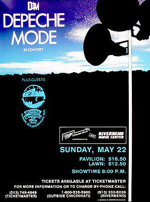 Depeche Mode - 1988 - Riverbend Music Center - Concert Poster