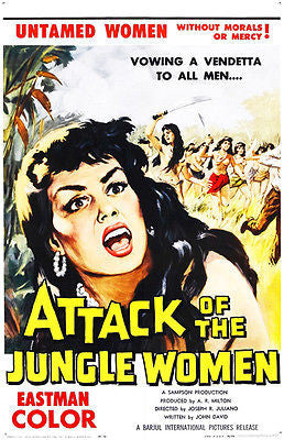 Attack of the Jungle Women - 1959 - Movie Poster