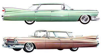 1959 Cadillac Sedan DeVille - Promotional Advertising Poster