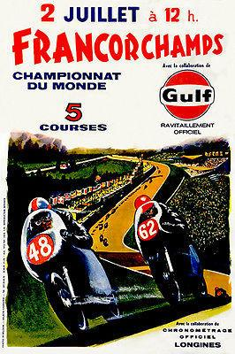 1972 Francorchamps World Championship Motorcycle Race - Promotional Magnet