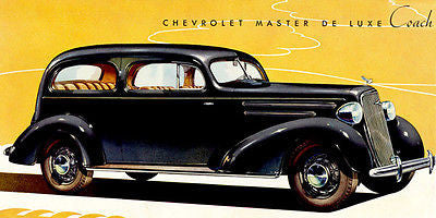 1935 Chevrolet Master Deluxe Coach - Promotional Advertising Poster