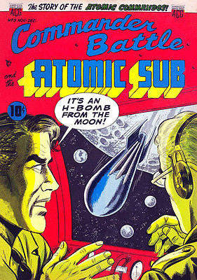 Commander Battle and the Atomic Sub #3 1954 - Comic Book Cover Poster