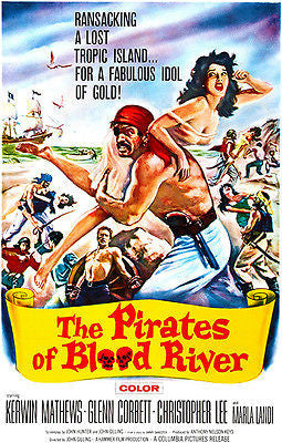 The Pirates Of Blood River - 1962 - Movie Poster