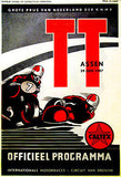 1957 Dutch T. T. Motorcycle Race - Promotional Advertising Poster