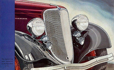 1933 Ford V8 - Promotional Advertising Poster