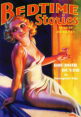 Bedtime Stories - August 1936 - Magazine Cover Poster