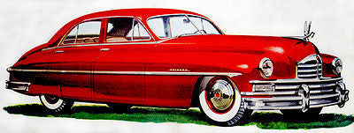 1949 50th Anniversary Packard Super - Promotional Advertising Poster