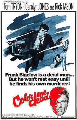 Color Me Dead - 1969 - Movie Poster