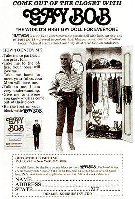 1978 Gay Bob Doll - Promotional Advertising Poster