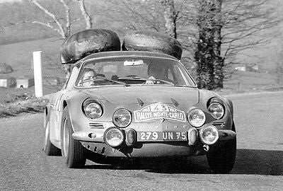 1968 Alpine A110 at Monte Carlo Rally - Promotional Race Poster