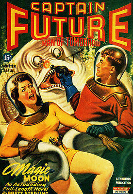 Captain Future Man of Tomorrow - 1944 - Comic Book Cover Poster